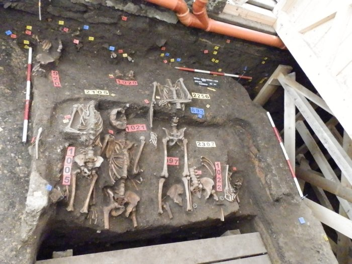Fondations ossuaire Sedlec squelettes