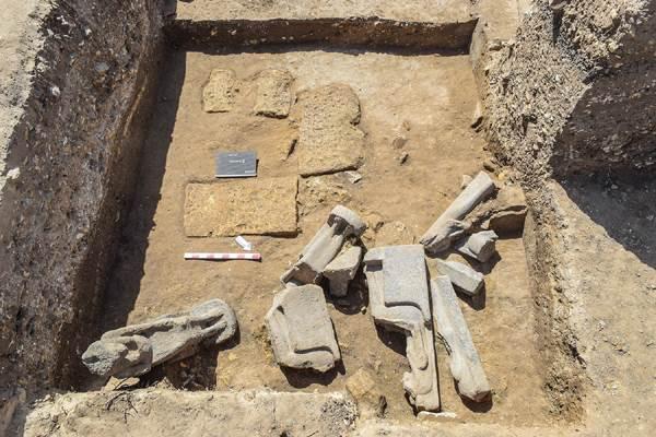 statues Sekhmet temple funéraire Amenhotep III