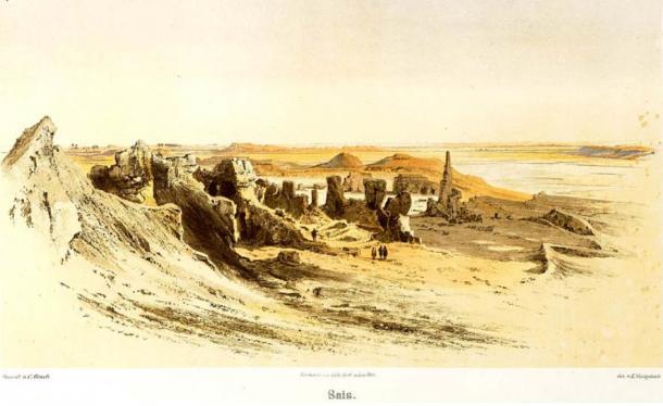 illustration-ruines-sais-egypte